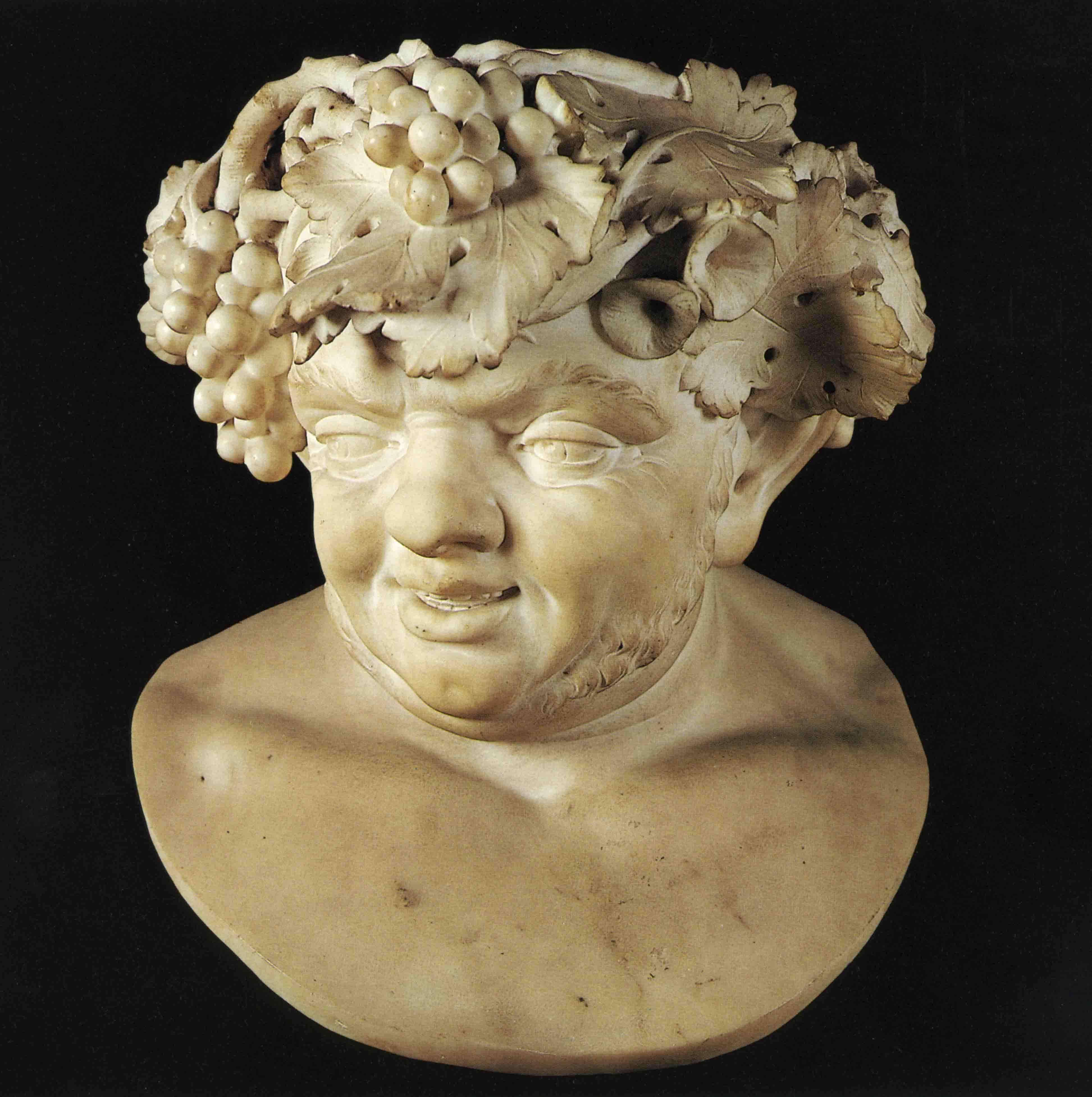 """01. JEAN BAPTISTE BOUDARD (1710-1768), Sileno, marmo di Carrara, 1766 ca. (Parma, Istituto d'Arte """"P. Toschi"""")."""