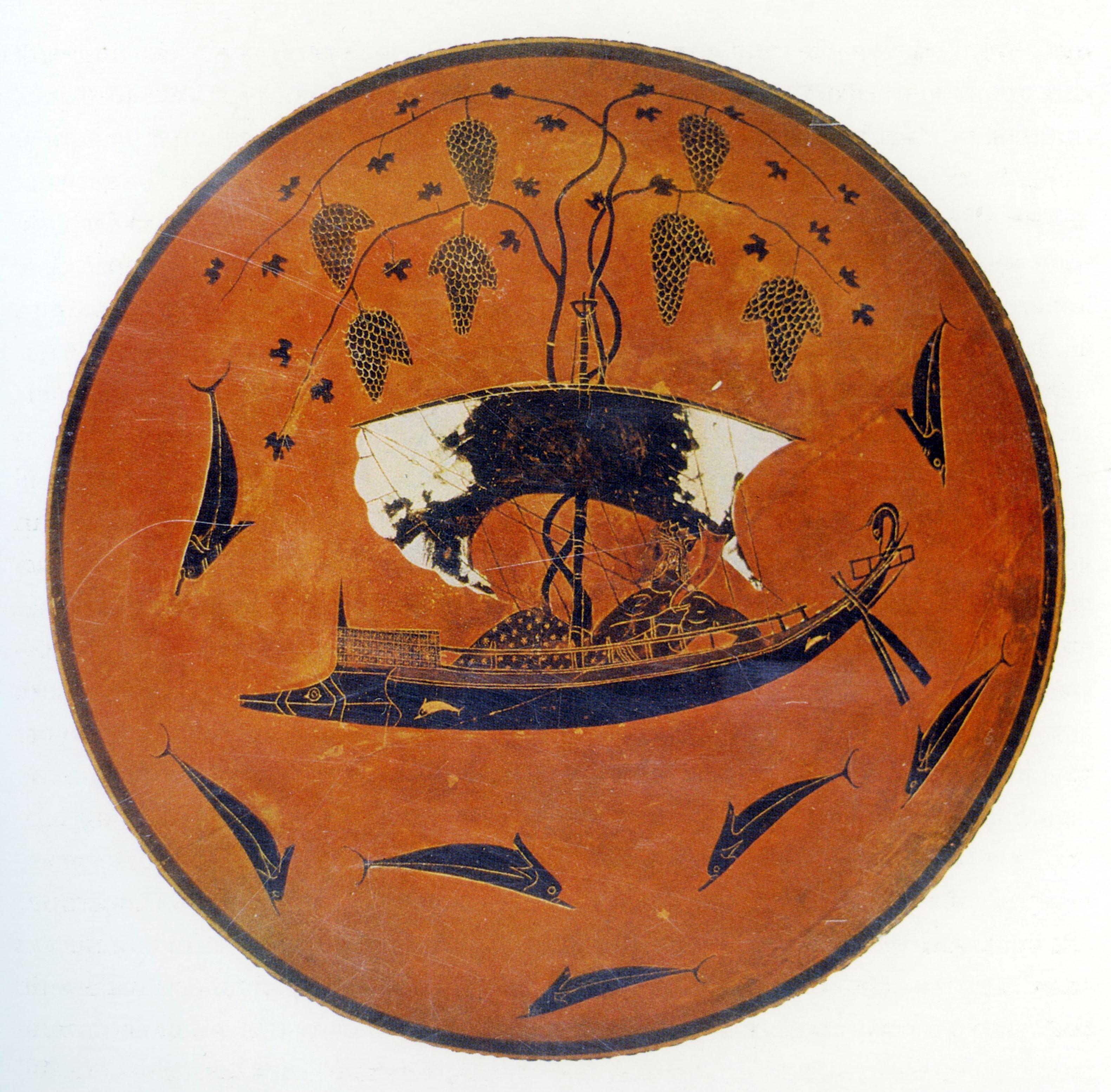 Dioniso Attraversa Il Mare Kylix Da Vulci, 540 A.C. Circa (Monaco, Staatliche Antikensammlungen)